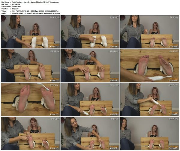 TickleTorture - Nora Ivy Locked Stocked & Foot TickledTickleTorture VIP Clips