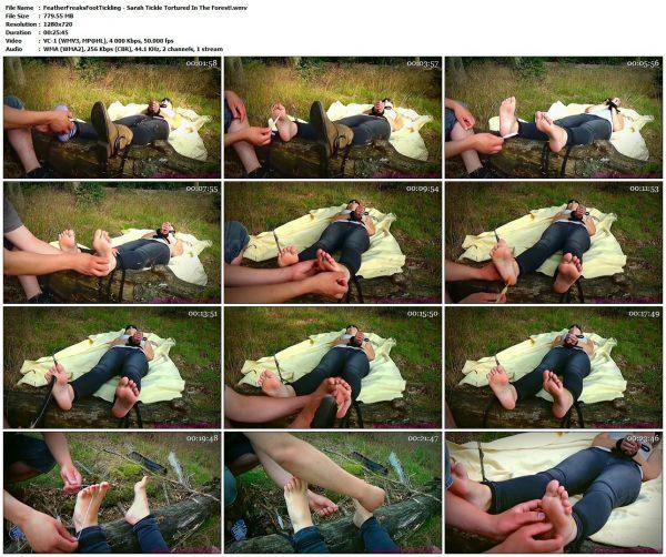 FeatherFreaksFootTickling - Sarah Tickle Tortured In The Forest!FeatherFreaksFootTickling VIP Clips