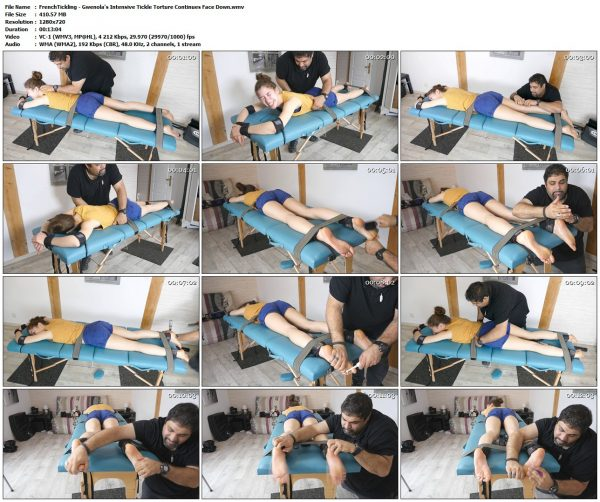 FrenchTickling - Gwenola's Intensive Tickle Torture Continues Face DownFrenchTickling VIP Clips