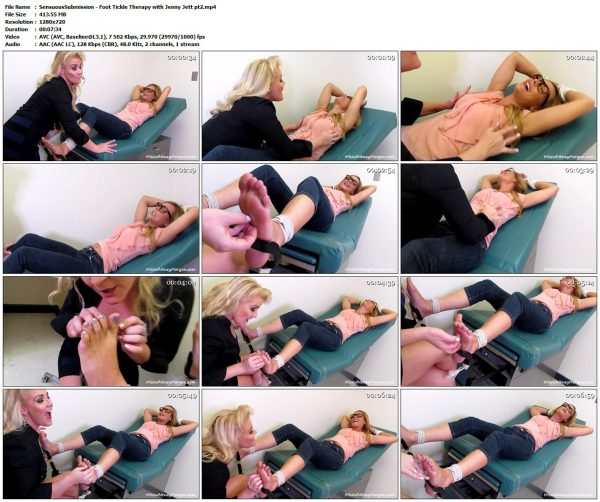SensuousSubmission - Foot Tickle Therapy with Jenny Jett pt2SensuousSubmission