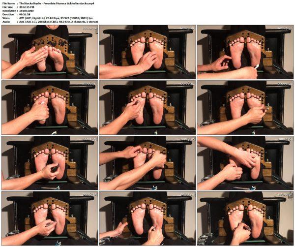 TheStocksStudio - Porcelain Muneca tickled in stocksTheStocksStudio VIP Clips