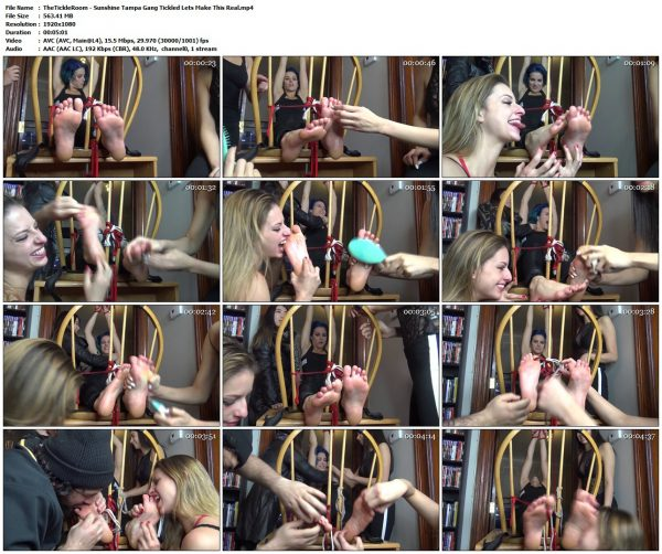"""TheTickleRoom - Sunshine Tampa Gang Tickled """"Lets Make This Real""""TheTickleRoom VIP Clips"""