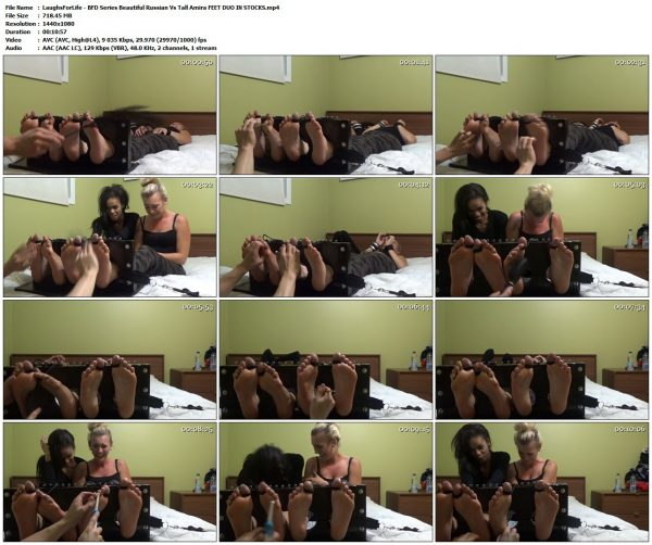 LaughsForLife - BFD Series Beautiful Russian Vs Tall Amira FEET DUO IN STOCKSLaughsForLife VIP Clips