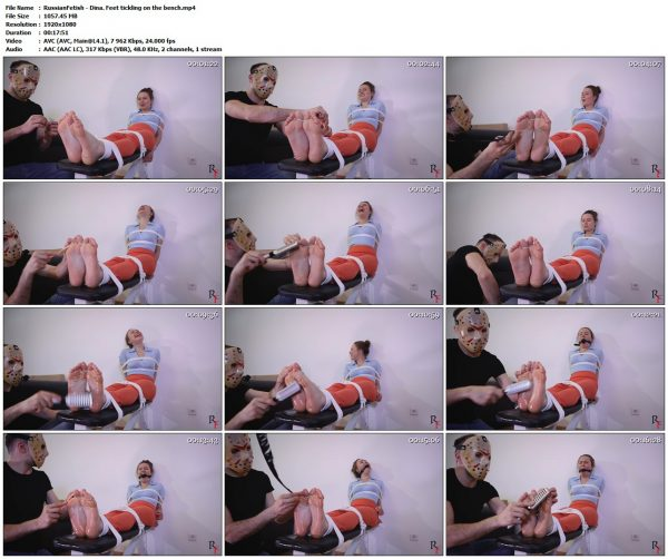 RussianFetish - Dina. Feet tickling on the benchRussianFetish VIP Clips