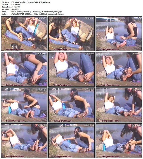 TicklingParadise - Jasmine's First Tickle!TicklingParadise