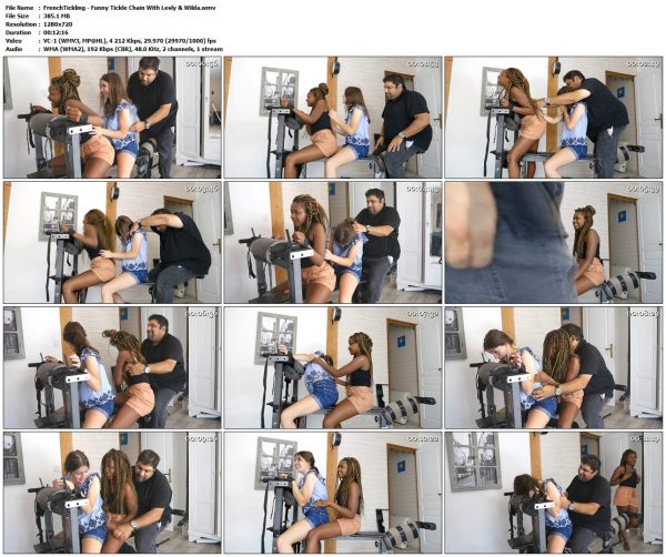 FrenchTickling - Funny Tickle Chain With Lesly & WildaFrenchTickling VIP Clips