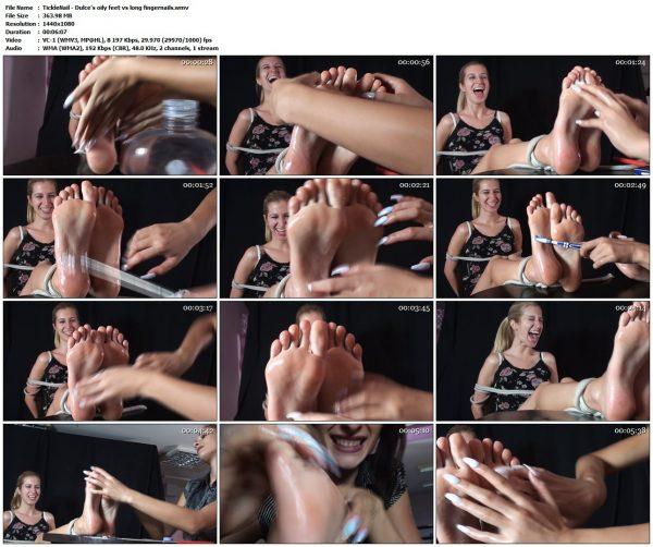 TickleNail - Dulce's oily feet vs long fingernailsTickleNail VIP Clips