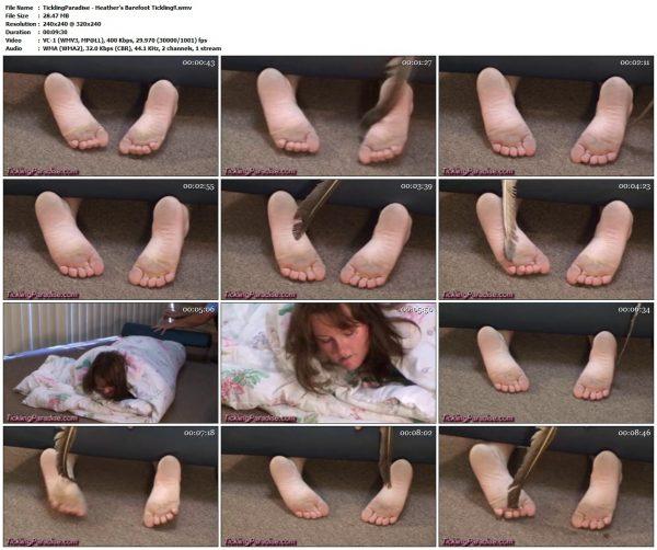 TicklingParadise - Heather's Barefoot Tickling!!TicklingParadise