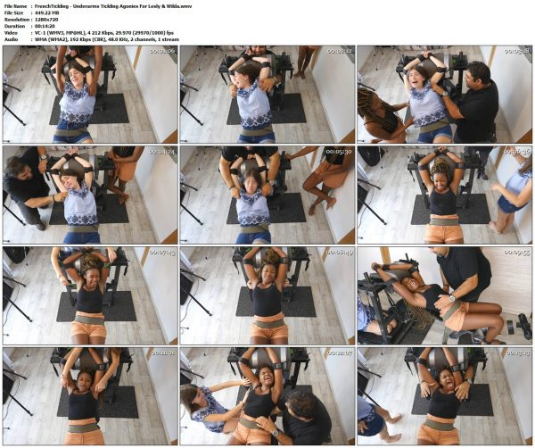 FrenchTickling - Underarms Tickling Agonies For Lesly & WildaFrenchTickling VIP Clips