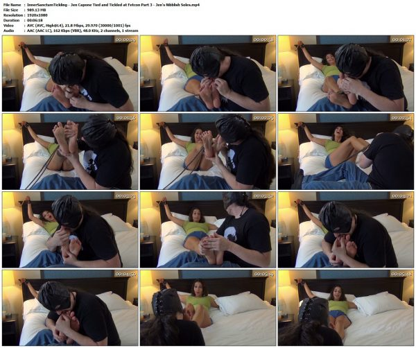 InnerSanctumTickling - Jen Capone Tied and Tickled at Fetcon Part 3 - Jen's Nibblish SolesInnerSanctumTickling VIP Clips