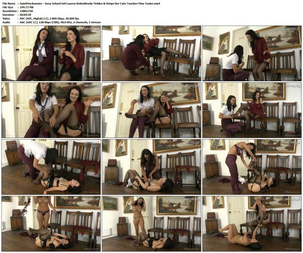 SaintMackenzies - Sexy School Girl Lauren Relentlessly Tickles & Strips Her Cute Teacher Miss TaylorSaintMackenzie's