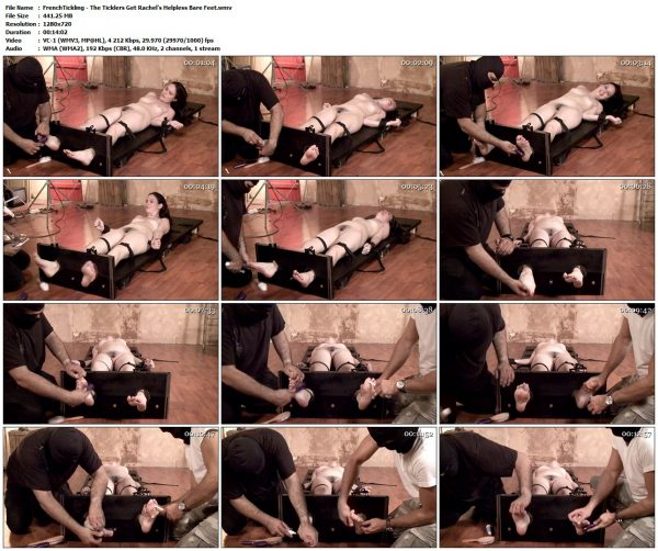 FrenchTickling - The Ticklers Get Rachel's Helpless Bare FeetFrenchTickling VIP Clips