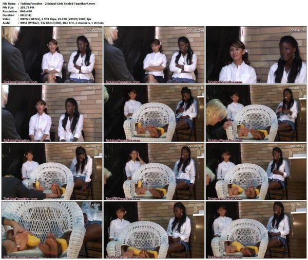 TicklingParadise - 2 School Girls Tickled Together!!TicklingParadise