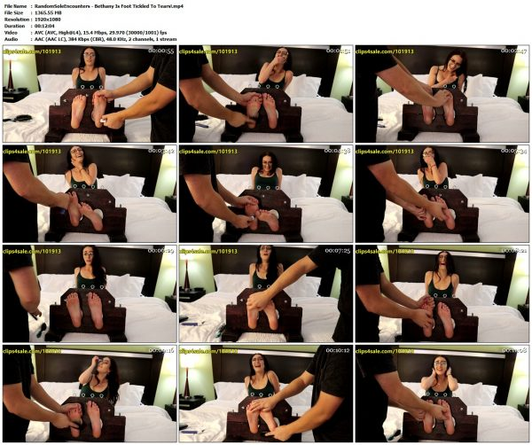 RandomSoleEncounters - Bethany Is Foot Tickled To Tears!RandomSoleEncounters VIP Clips