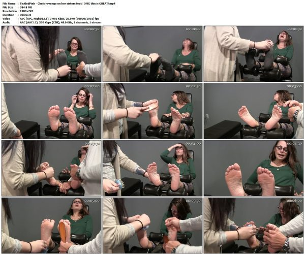 TickledPink - Chels revenge on her sisters feet!  OMG this is GREAT!TickledPink VIP Clips
