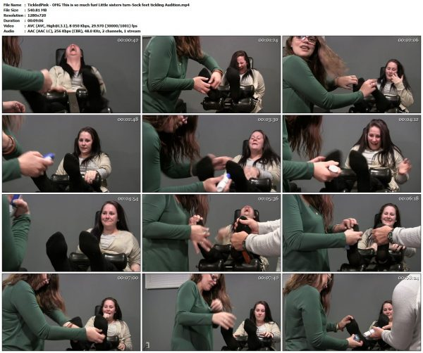 TickledPink - OMG This is so much fun! Little sisters turn-Sock feet tickling AuditionTickledPink VIP Clips