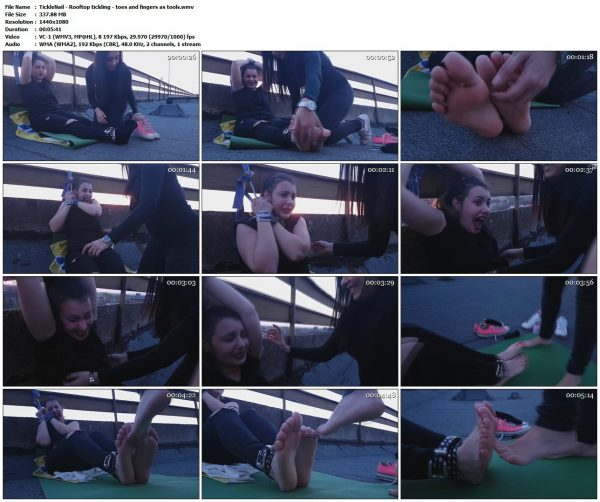 TickleNail - Rooftop tickling - toes and fingers as toolsTickleNail VIP Clips