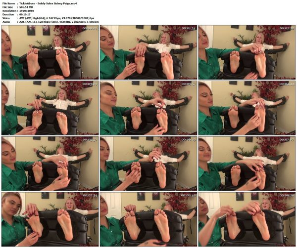 TickleAbuse - Solely Soles Sidney PaigeTickleAbuse VIP Clips
