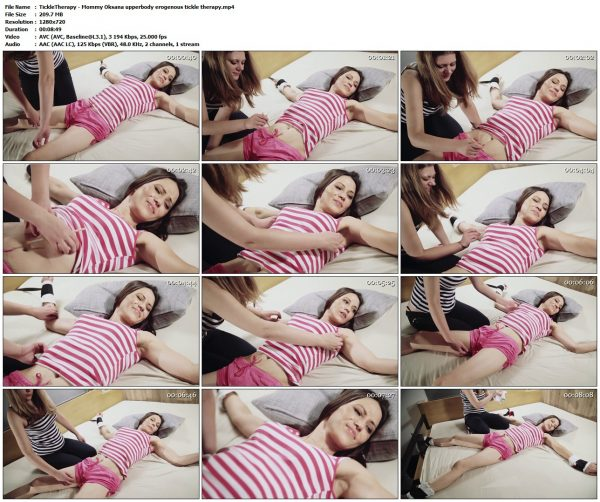 TickleTherapy - Mommy Oksana upperbody erogenous tickle therapyTickleTherapy