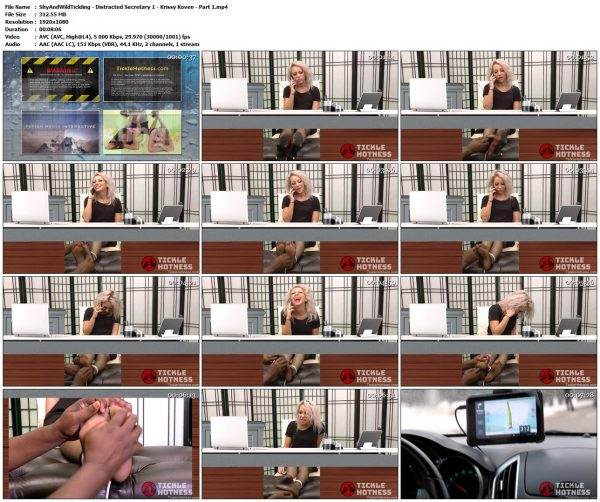 ShyAndWildTickling - Distracted Secretary 1 - Krissy Koven - Part 1ShyAndWildTickling