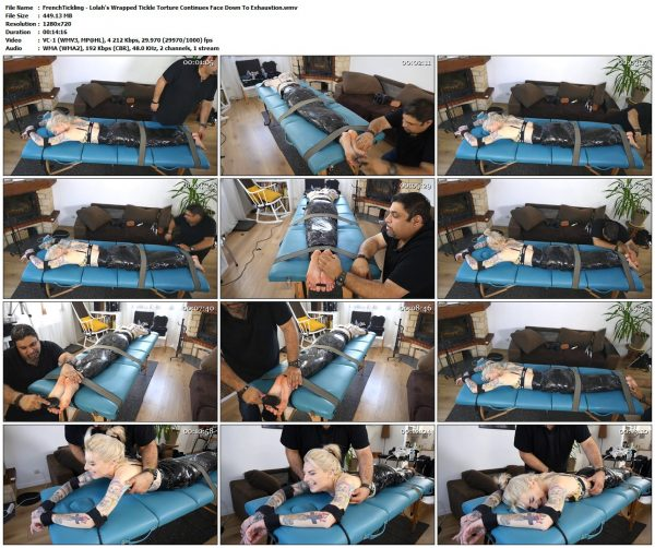 FrenchTickling - Lolah's Wrapped Tickle Torture Continues Face Down To ExhaustionFrenchTickling VIP Clips