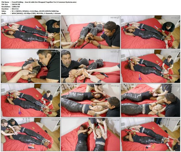 FrenchTickling - Jess & Lolah Are Wrapped Together For A Common HysteriaFrenchTickling VIP Clips