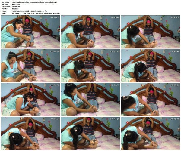 HomeMadeCosquillas - Maryory tickle torture in bedHomeMadeCosquillas VIP Clips