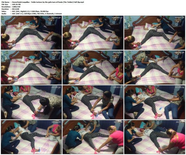 HomeMadeCosquillas - Tickle torture by the girls turn of Paola (The Tickler) Full ClipHomeMadeCosquillas VIP Clips