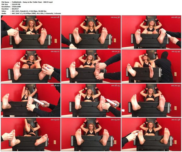 TicklishGirls - Daisy in the Tickle Chair - UNCUTTicklishGirls VIP Clips