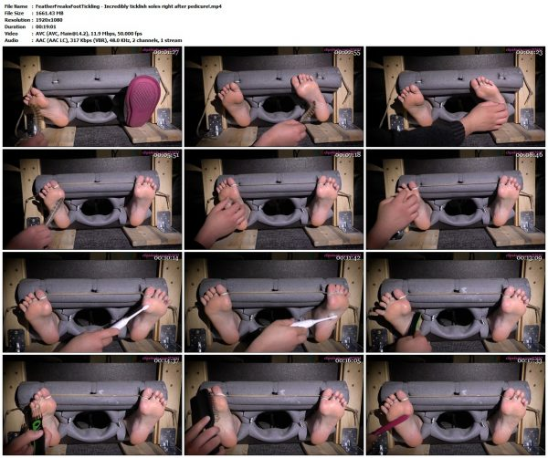 FeatherFreaksFootTickling - Incredibly ticklish soles right after pedicure!FeatherFreaksFootTickling VIP Clips