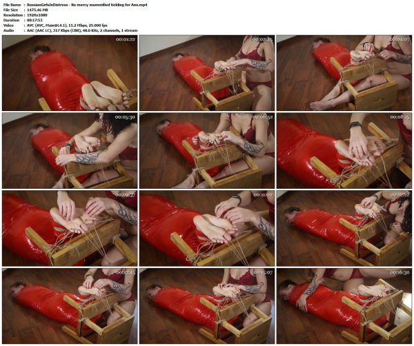 RussianGirlsInDistress - No mercy mummified tickling for AnnRussianGirlsInDistress VIP Clips