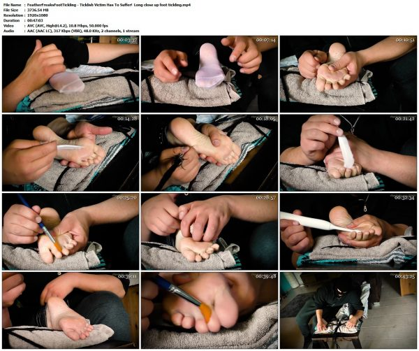 FeatherFreaksFootTickling - Ticklish Victim Has To Suffer!  Long close up foot ticklingFeatherFreaksFootTickling VIP Clips