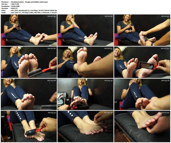 DivaRopeLatinas - Rough and ticklish soles!!DivaRopeLatinas