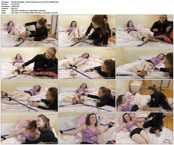 NextDoorTickling - Flower Girl Inna Get's her FEET tickled!NextDoorTickling VIP Clips