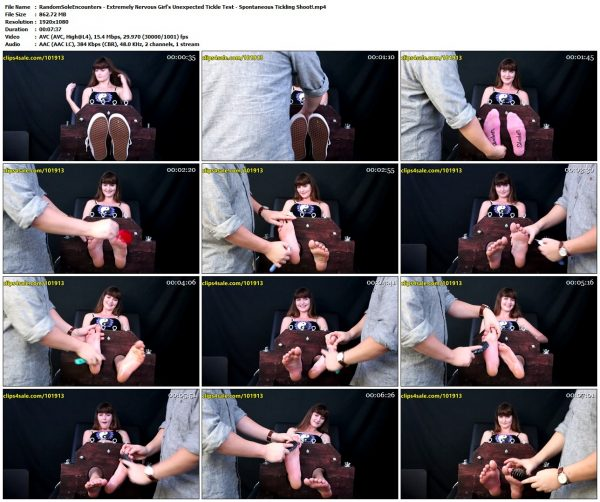 RandomSoleEncounters - Extremely Nervous Girl's Unexpected Tickle Test - Spontaneous Tickling Shoot!RandomSoleEncounters VIP Clips