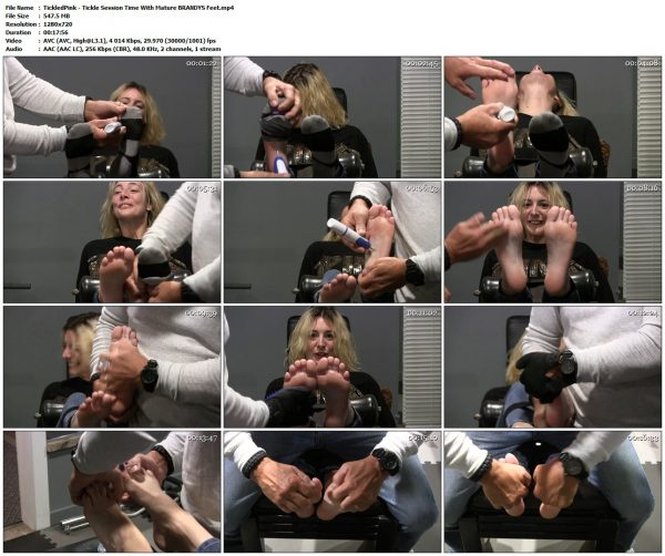 TickledPink - Tickle Session Time With Mature BRANDYS FeetTickledPink VIP Clips