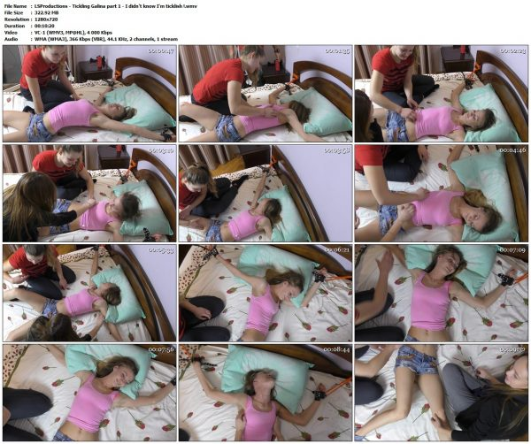 LSProductions - Tickling Galina part 1 - I didn't know I'm ticklish !LSProductions