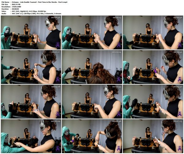 Octopus - Lola Double Teamed - First Time in the Stocks - Part 2Octopus VIP Clips