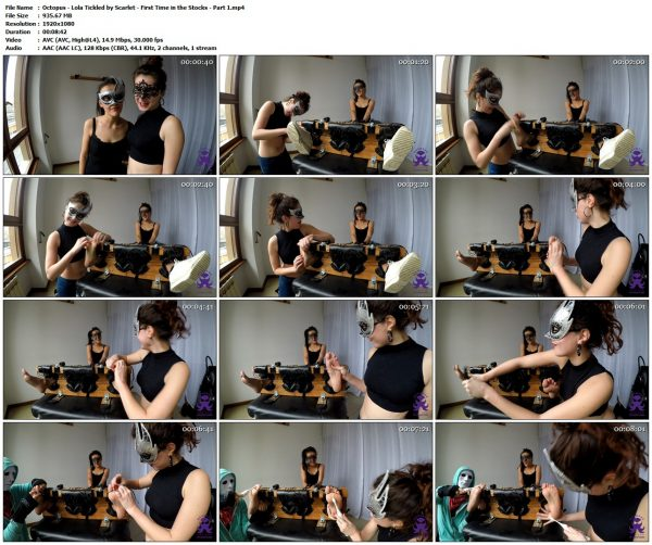 Octopus - Lola Tickled by Scarlet - First Time in the Stocks - Part 1Octopus VIP Clips