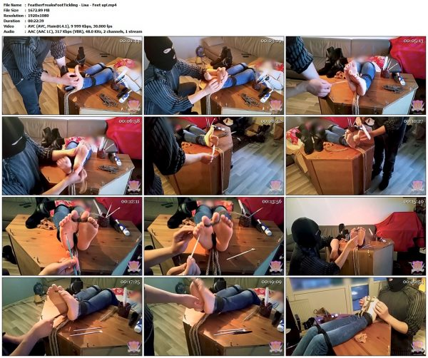 FeatherFreaksFootTickling - Lisa - Feet up!FeatherFreaksFootTickling VIP Clips