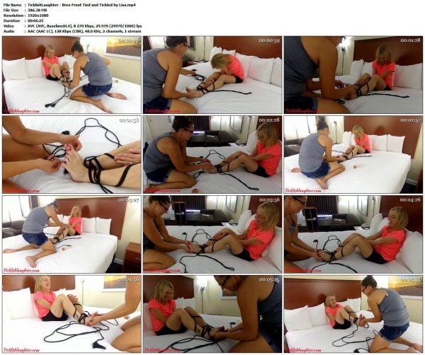 TicklishLaughter - Bree Front Tied and Tickled by LisaTicklishLaughter VIP Clips