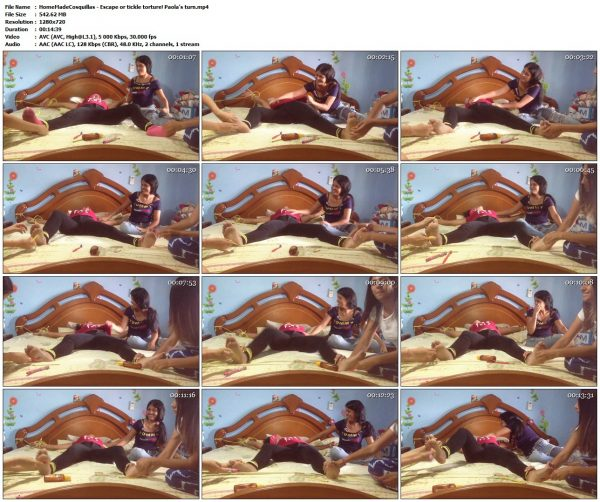 HomeMadeCosquillas - Escape or tickle torture! Paola's turnHomeMadeCosquillas