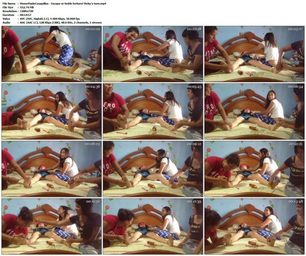 HomeMadeCosquillas - Escape or tickle torture! Vicky's turnHomeMadeCosquillas