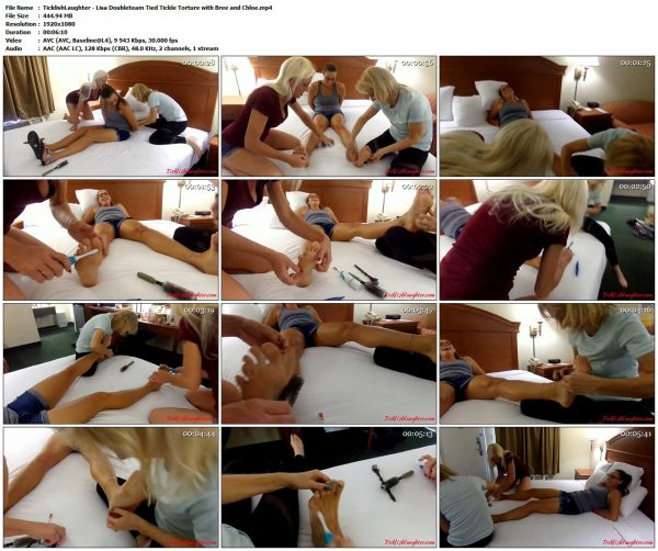 TicklishLaughter - Lisa Doubleteam Tied Tickle Torture with Bree and ChloeTicklishLaughter VIP Clips