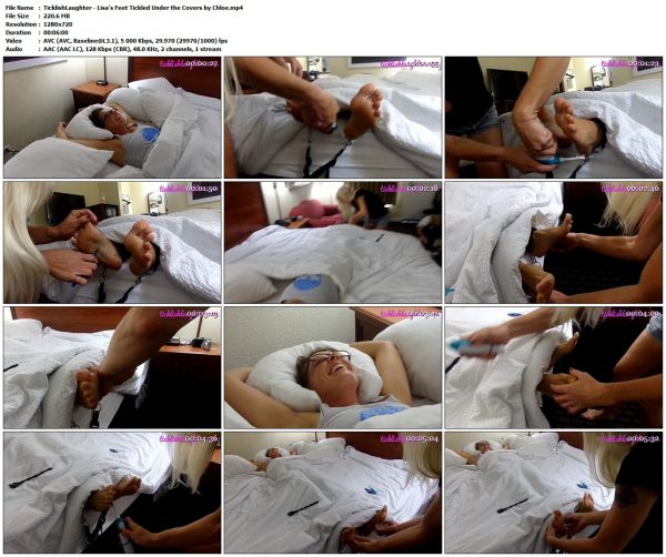 TicklishLaughter - Lisa's Feet Tickled Under the Covers by ChloeTicklishLaughter VIP Clips