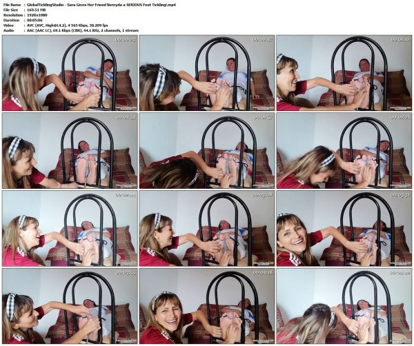 GlobalTicklingStudio - Sara Gives Her Friend Nereyda a SERIOUS Foot Tickling!GlobalTicklingStudio VIP Clips
