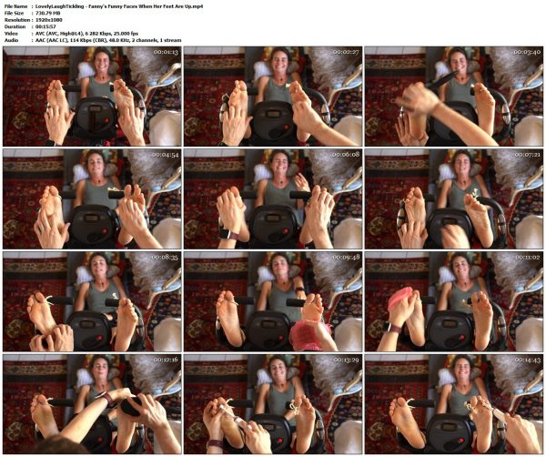 LovelyLaughTickling - Fanny's Funny Faces When Her Feet Are UpLovelyLaughTickling VIP Clips