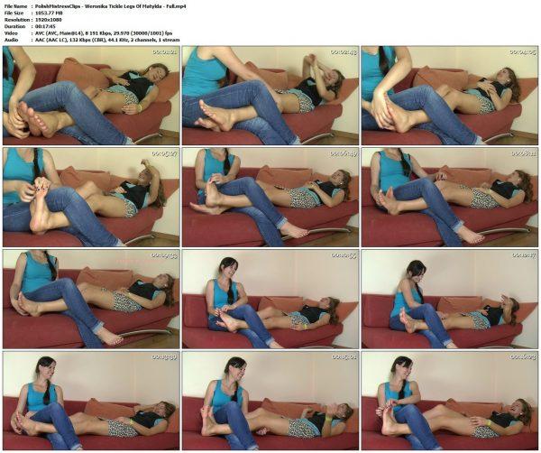 PolishMistressClips - Weronika Tickle Legs Of Matylda - FullPolishMistressClips