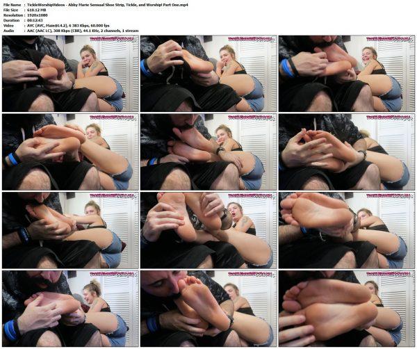 TickleWorshipVideos - Abby Marie Sensual Shoe Strip, Tickle, and Worship! Part OneTickleWorshipVideos VIP Clips