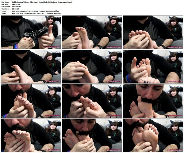 TickleWorshipVideos - The lovely Xena Blade Tickled and Worshipped!TickleWorshipVideos VIP Clips
